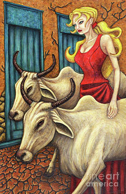 Painting - Sacred Cows by Amy E Fraser