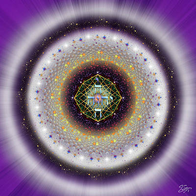 Digital Art - Sacred Geometry 729 by Endre Balogh