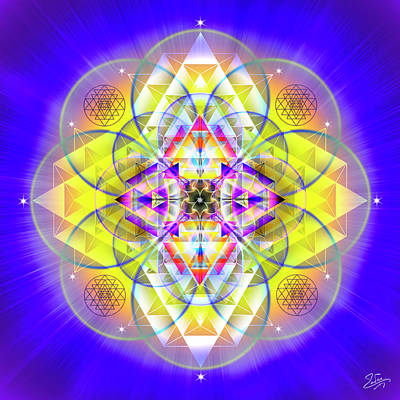 Digital Art - Sacred Geometry 731 by Endre Balogh