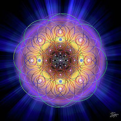 Digital Art - Sacred Geometry 732 by Endre Balogh