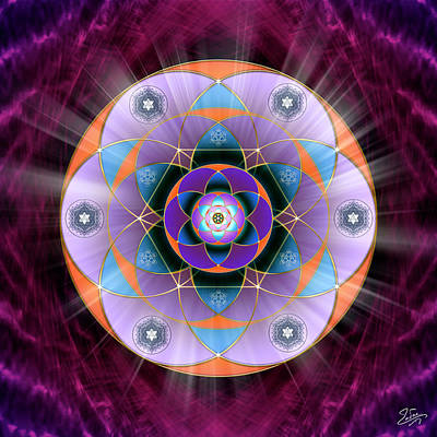 Digital Art - Sacred Geometry 733 by Endre Balogh