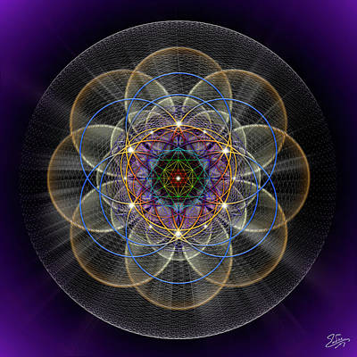 Digital Art - Sacred Geometry 738 by Endre Balogh