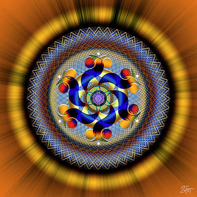 Digital Art - Sacred Geometry 740 Number 1 by Endre Balogh