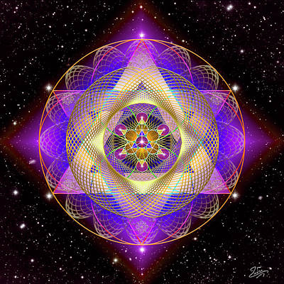 Digital Art - Sacred Geometry 741 by Endre Balogh