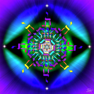 Digital Art - Sacred Geometry 745 by Endre Balogh