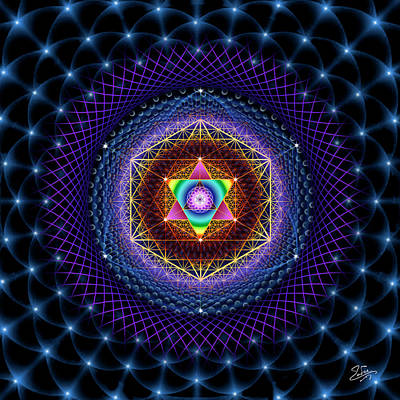 Digital Art - Sacred Geometry 753 by Endre Balogh