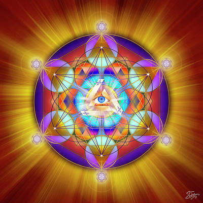 Digital Art - Sacred Geometry 755 by Endre Balogh