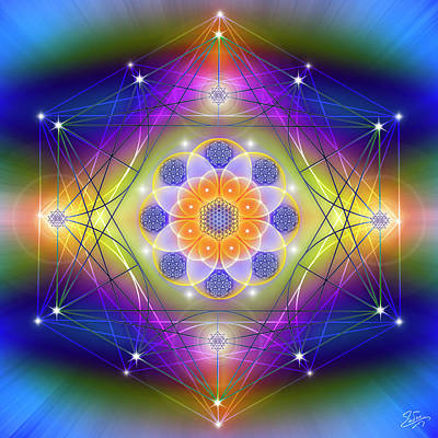 Photograph - Sacred Geometry 756 by Endre Balogh