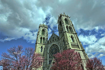Photograph - Sacred Heart Cathedral - Newark by Allen Beatty
