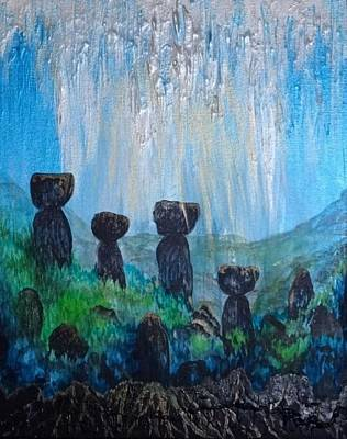 Painting - Sacred Latte Stone Site by Michelle Pier