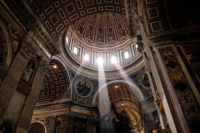 Photograph - Sacred Light From Above by Razvan Lungu