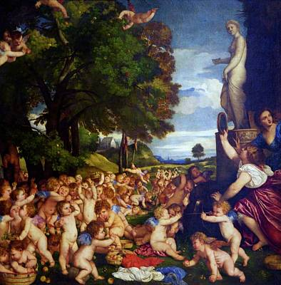 Painting - Sacrificial Offering To Venus By Titian by Peter Barritt