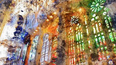 Painting - Sagrada Familia - 26 by Andrea Mazzocchetti