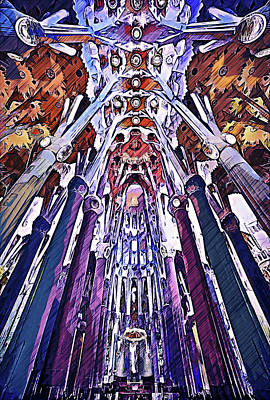 Painting - Sagrada Familia - 27 by Andrea Mazzocchetti