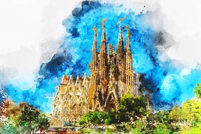 Painting - Sagrada Familia - 28 by Andrea Mazzocchetti