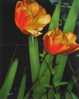 Kitchen Mark Rogan - Shady tulips by Marcel Woingue-Dagrou
