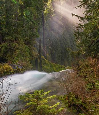 Photograph - Sahalie Falls Mist by Leland D Howard