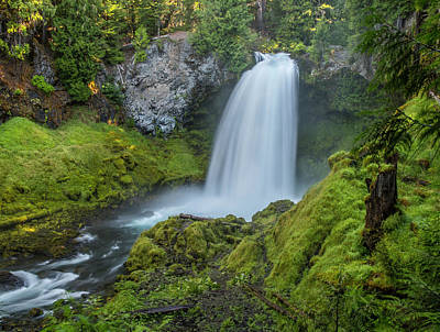 Photograph - Sahalie Falls, Summer by Matthew Irvin