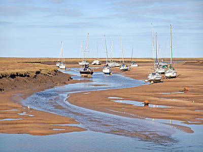 Photograph - Sail Boats At Low Tide Wells Next The Sea by Gill Billington