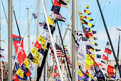 Photograph - Sailboat Flags by Randy J Heath