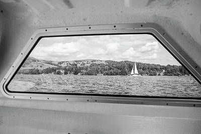 Photograph - Sailboat In Lake Windermere Uk by John McGraw