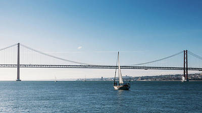 Photograph - Sailboat In Lisbon, Portugal by Alexandre Rotenberg