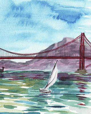Royalty-Free and Rights-Managed Images - Sailboat In San Francisco Bay by Irina Sztukowski