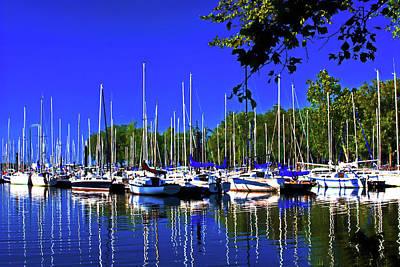Photograph - Sailboat Marina. by Bill Jonscher
