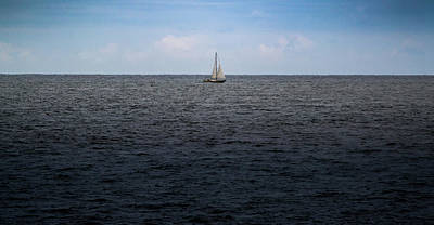 Photograph - Sailboat On The Ocean by Scott Lyons