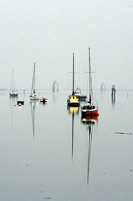 Barrow In Furness Wall Art - Photograph - Sailboat Reflections by Natalie Threadingham