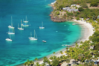 Antilles Photograph - Sailboats At Little Beach In Antigua by Michaelutech