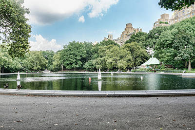 Photograph - Sailboats In Central Park by Sharon Popek