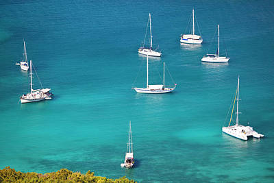 Antilles Photograph - Sailboats In Turquiose Waters by Michaelutech