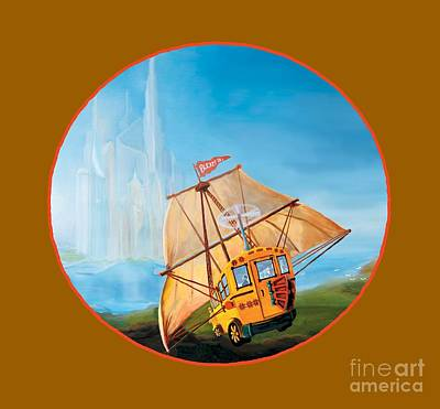 Painting - Sailbus by Donna Hall