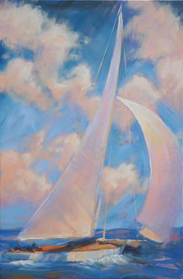 Wall Art - Painting - Sailing Away 1 by Aaron Bowles