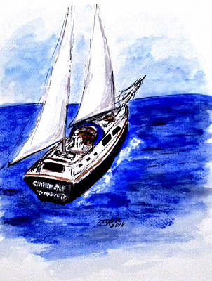 Painting - Sailing Away by Clyde J Kell
