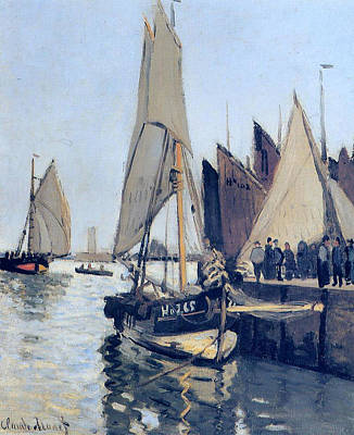 Through The Viewfinder - Sailing Boats at Honfleur, 1866 by Claude Monet