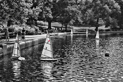 Photograph - Sailing In Central Park by Sharon Popek