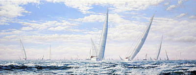 Painting - Sailing in Fair Weather by Mark Woollacott