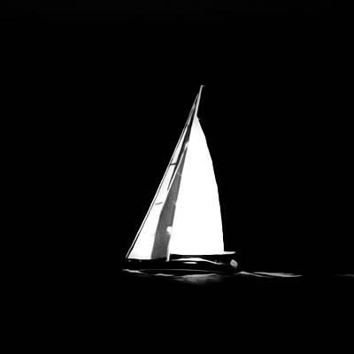 Photograph - Sailing In The Night by Agatha