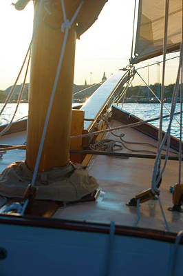 Photograph - Sailing In To Sunset by Mark Duehmig