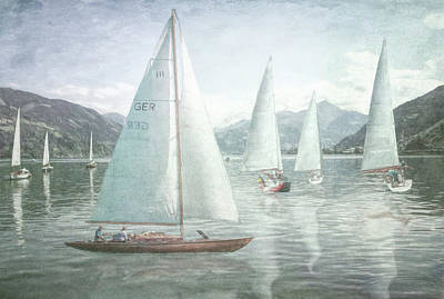 Photograph - Sailing In Watercolors by Debra and Dave Vanderlaan