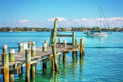 Photograph - Sailing Into Blue Waters by Debra and Dave Vanderlaan