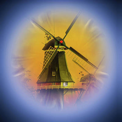 Mixed Media Royalty Free Images - Sailing Romance Windmills 5 Royalty-Free Image by Walter Zettl