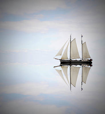 Recreational Boat Photograph - Sailing Ship On The Sea by Sjo