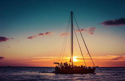 Sailing Sunset In Hawaii 0010 Original