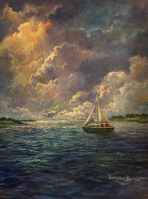 Painting - Sailing The Divine Light by Randy Burns