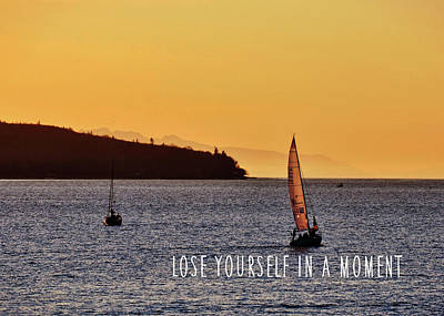 Sailing The English Bay Quote Art Print by JAMART Photography
