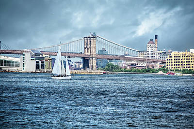 Water Droplets Sharon Johnstone - Sailing the Hudson by Rod Gimenez