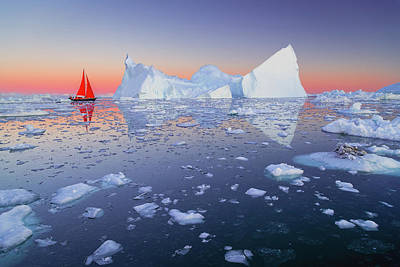 Photograph - Sailing The Icefjord by Michael Blanchette